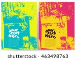 abstract grunge background for... | Shutterstock .eps vector #463498763