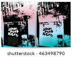 abstract grunge background for... | Shutterstock .eps vector #463498790