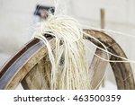Old Spinning Wheel  Detail Of...
