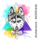 beautiful hand drawn vector... | Shutterstock .eps vector #463501646
