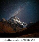 Night View Of Ushba Mountain...