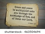Small photo of Top 500 Bible verses. Grace and peace be multiplied unto you through the knowledge of God, and of Jesus our Lord, 2 Peter 1:2