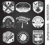 set of retro vintage badges and ... | Shutterstock .eps vector #463505354
