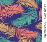 fashion tropical seamless... | Shutterstock .eps vector #463513454