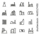 vector line factory icon set on ... | Shutterstock .eps vector #463517450