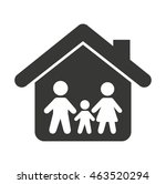 family insurance isolated icon... | Shutterstock .eps vector #463520294