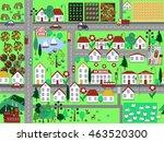 cartoon city seamless pattern.... | Shutterstock . vector #463520300
