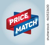 price match arrow tag sign icon. | Shutterstock .eps vector #463523630