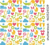 baby set icons pattern isolated ... | Shutterstock .eps vector #463524539