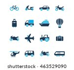 flat icon set of travel and... | Shutterstock .eps vector #463529090
