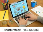 learn and lead concept on...   Shutterstock . vector #463530383