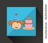 girl in a celebration party... | Shutterstock .eps vector #463542044