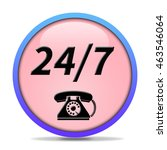 24 7 support phone icon....   Shutterstock . vector #463546064