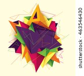 modern style abstract... | Shutterstock .eps vector #463546430