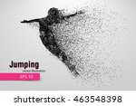silhouette of a jumping girl... | Shutterstock .eps vector #463548398