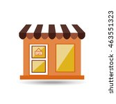 shopping place building... | Shutterstock .eps vector #463551323