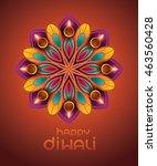indian rangoli   a traditional... | Shutterstock .eps vector #463560428