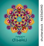indian rangoli   a traditional... | Shutterstock .eps vector #463560440