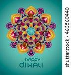 indian rangoli   a traditional... | Shutterstock .eps vector #463560440