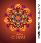 indian rangoli   a traditional... | Shutterstock .eps vector #463560470