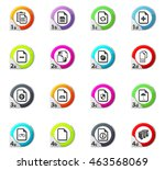 documents web icons for user... | Shutterstock .eps vector #463568069