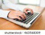 woman working on laptop computer   Shutterstock . vector #463568309