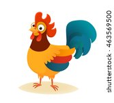 vector illustration of rooster  ... | Shutterstock .eps vector #463569500