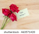 handwriting happy holidays and... | Shutterstock . vector #463571420