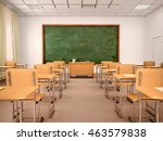 bright empty classroom for... | Shutterstock . vector #463579838