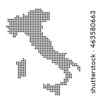 map of italy | Shutterstock .eps vector #463580663