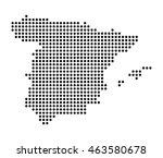 map of spain | Shutterstock .eps vector #463580678