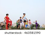 tangshan   july 17  women doing ...   Shutterstock . vector #463581590