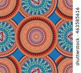 hand drawn mandala ethnic...   Shutterstock .eps vector #463585616
