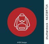 web line icon. knapsack | Shutterstock .eps vector #463589714