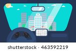 day city life concept. town...   Shutterstock .eps vector #463592219