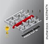 business leader success maze...   Shutterstock .eps vector #463596974