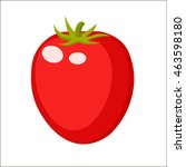 tomato in a cartoon  style logo ... | Shutterstock .eps vector #463598180