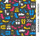 seamless pattern with... | Shutterstock . vector #463604624