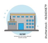 plant building chimney factory... | Shutterstock .eps vector #463604879
