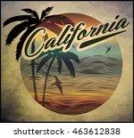 california beach surf club... | Shutterstock .eps vector #463612838