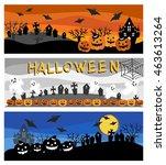 three types of halloween... | Shutterstock .eps vector #463613264