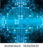 dark blue color light abstract... | Shutterstock .eps vector #463620620