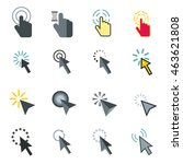 flat mouse pointer icons set.... | Shutterstock .eps vector #463621808