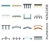 Flat Bridge Icons Set....