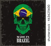 skull color of the flag | Shutterstock .eps vector #463625600