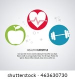 healthy lifestyle concept... | Shutterstock .eps vector #463630730