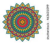 color floral mandala  vector... | Shutterstock .eps vector #463631099