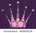imperial crown shape vector... | Shutterstock .eps vector #463633124