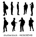 human characters set   vector | Shutterstock .eps vector #463638548