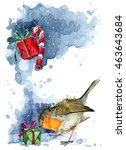 Christmas Card. Christmas Bird...